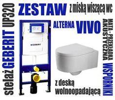 Geberit Wc Stelaż Duofix H112 + Miska Alterna Vivo z Deską Wolnoopadającą  (111.320.00.5 + VIVO)