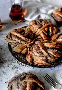 Cardamom Knots with Bourbon and Chocolate - The G & M Kitchen Cardamom Buns Recipe, Bun Recipe, Let It Rise, Swedish Recipes, Dry Yeast, Ms Gs, Dish Towels, Coffee Break, Bourbon