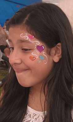 heart eye design Face painting