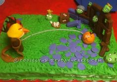 Angry Birds 10th Birthday Cake... This website is the Pinterest of birthday cake ideas