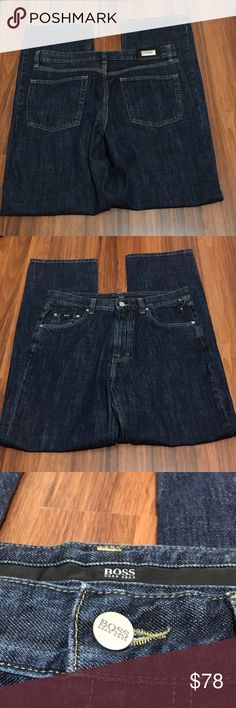 BOSS Hugo Boss Bootcut Alabama Denim Jeans 34 X 32 👽Condition: pre-owned   👽Waist  34  👽Inseam 32  👽Style: Bootcut Hugo Boss Jeans Bootcut