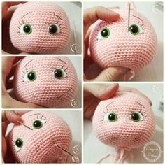 Mesmerizing Crochet an Amigurumi Rabbit Ideas. Lovely Crochet an Amigurumi Rabbit Ideas. Crochet Eyes, Cute Crochet, Crochet Crafts, Crochet Baby, Crochet Projects, Crochet Toys Patterns, Amigurumi Patterns, Stuffed Toys Patterns, Doll Patterns