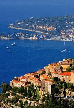 France Travel Inspiration - Èze, Villefranche-sur-Mer, Nice, Alpes-Maritimes, Provence-Alpes-Côte d'Azur, France