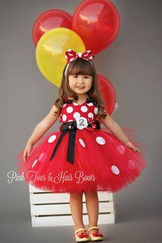 Classic Red Minnie Mouse Birthday tutu Dress-Holland