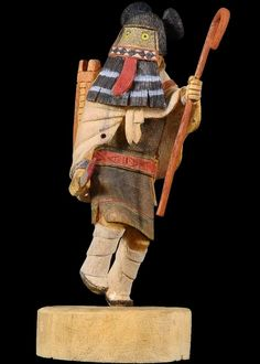 Black Ogre Woman Kachina Doll Vintage Collectible By R Kanuho