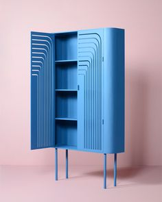 Cabinet DECO is designed for friends who bought a beautiful Art Deco house. Prototyped in wood. Final version in steel. Storage Shelves, Locker Storage, Shelf, Wood Furniture, Furniture Design, Furniture Ideas, Modern Furniture, Multipurpose Furniture, Art Deco Home