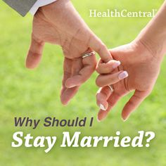 Interesting fact about marriage:  Married couples are happier than those who are unmarried or divorced. 6 reason's why it's worth it to stay in a marriage: