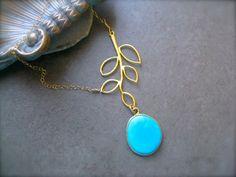 Sleeping Beauty Turquoise  Branch necklace, Turquoise Necklace. via Etsy.
