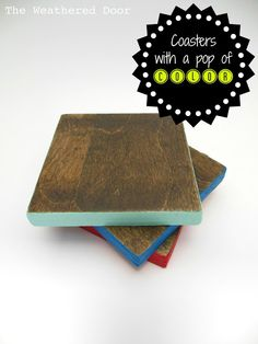reversible coasters with a pop of color