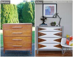 Hometalk :: Before & After: Modern Triangle Dresser Makeover  GORGEOUS!!  LOVE LOVE LOVE!