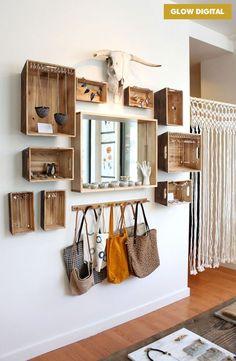 Hang a hook for briefcase  #interior #design #inspiration