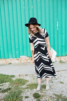 Chevron dress & glit