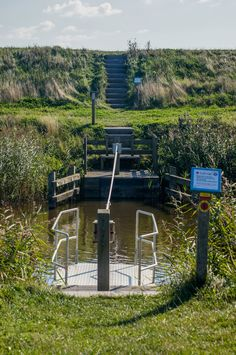 Trekpontje Eierlandskanaal, Texel, Noord-Holland.