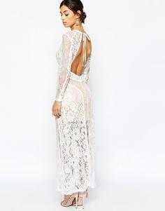 Bild 4 von True Decadence Petite – Maxi-Kleid aus hochwertiger Spitze mit  Rückenauschnitt Spitze 5ff83d67b2