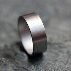 Palladium wedding ring - wide wedding band - unisex - mens wedding band - custom size - made to order