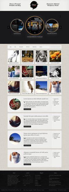 Bravo - Minimal Responsive WP Theme by shakedesign.net by Antonina , via Behance