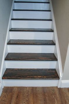 After- refinished stairs