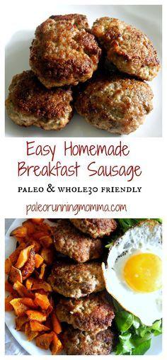 Easy Homemade Breakfast Sausage #paleo #whole30 #sugarfree