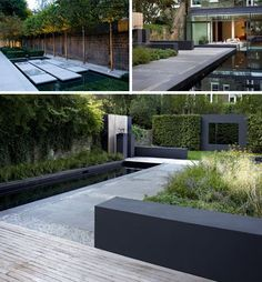49 Pretty Grassless Backyard Landscaping Ideas There is something endearing and calming about gardens. Aside from contributing to a greener earth, a small patch of garden […] Modern Backyard Design, Contemporary Garden Design, Modern Landscaping, Backyard Landscaping, Landscape Design, Landscaping Ideas, Backyard Ideas, Garden Modern, Sloped Backyard