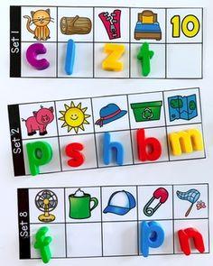 Teaching Letter Sounds, Teaching Letters, Alphabet Crafts, Alphabet Activities, Activity Centers, Literacy Centers, Preschool Literacy, Kindergarten Phonics, Literacy Activities