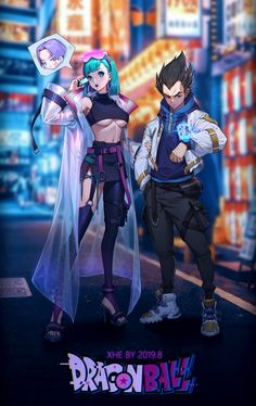 七龙珠同人第三弹完成!Dragon Ball Z Cyberpunk Bulma & Vegeta ブルマ&ベジータ Fanarts Anime, Anime Characters, Dragonball Anime, Anime Goku, Accel World, Dragon Ball Gt, Dragon Star, Animes Wallpapers, Character Art