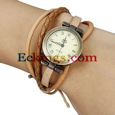 Women's Vintage Round Dial Plaited Band Bracelet Watch (Assorted Colors) : Online Shopping for Watches, Toys & more