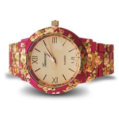 Floral Geneva watch.