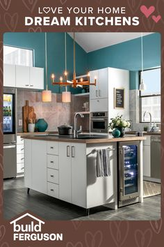 Gorgeous lighting, appliances, flooring, sinks, faucets, and cabinet hardware come together to make the perfect space. Find everything you need for your kitchen remodel. Faucets, Sinks, Diy Cleaning Products, Cleaning Hacks, Home Organization, Organizing, Floor Design, House Design, Room Ideas