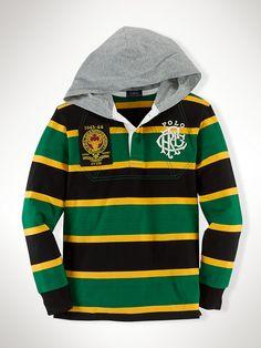Pullover Rugby Hoodie - Rugbys  Boys 8–20 - RalphLauren.com   .   Do regular jersey or fleece hoodie version