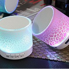 GOESTIME New Mini Bluetooth Speaker Portable Wireless Speakers Sound System Stereo Music Colorful LED Light Speaker Subwoofer