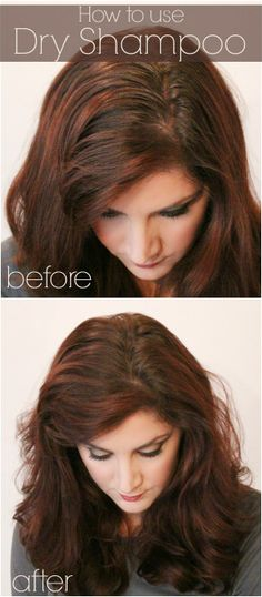 How to use dry shampoo before and after. It works!