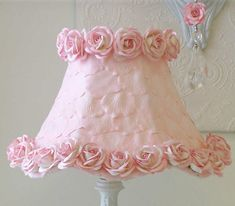 Lampshade w/ Pink Petals & Roses (Easy to DIY) | Jack and Jill Boutique