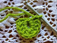 Lindevrouwsweb: Krokodillen steek - Crocodile stitch