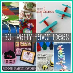 30+ Party Favor Ideas via www.waittilyourfathergetshome.com, Perfect ideas for your next get together! #partyfavors #birthday #party