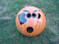 Happy Halloween bowling ball.