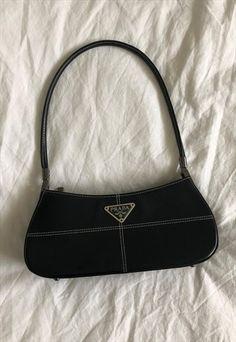 May 2020 - Vintage Prada Baguette Bag Black White Crossbody Louis Vuitton, Louis Vuitton Handbags, Crossbody Bag, Black Louis Vuitton Bag, Louis Vuitton Multicolor, Mode Vintage, Vintage Bags, Vintage Items, Vintage Dior Bag