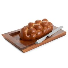 Nambe Geo Challah Board with Knife | Crystal Classics | $125