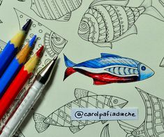 Atelier Gina Pafiadache Faber-Castell: Ref 021 -. Red (Rojo - Red) Ref 046 -. Blue Sky (Cielo Azul - Perlwinkle) Ref 048. - Royal Blue (Royal Blue - True Blue) White pen Uniball Zodiac (Pluma blanca - White pen) White pen can be replaced by white paint or by a concealer pen (liquid paper). In the video I spent two pen layers to be fine white boy! And the royal blue pencil was used to shade both the red side and blue side!