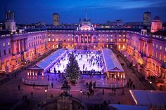 Somerset House (temporary exhibits, outdoor summer cinema, winter ice skating rink) - London, England