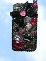iphone 4 detachable handcrafted cell case.  One-of-a- kind.  lanyard included to wear around neck.  $29.95