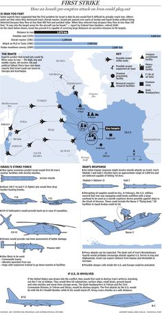 Boat Discover Graphic: How an Israeli pre-emptive attack on Iran could playout Military Tactics, Military Weapons, Military Art, Military History, Military Aircraft, Defence Force, Army Vehicles, Military Equipment, Modern Warfare