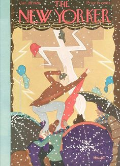 The New Yorker, January 1928. (Cover by Theodore G Haupt)