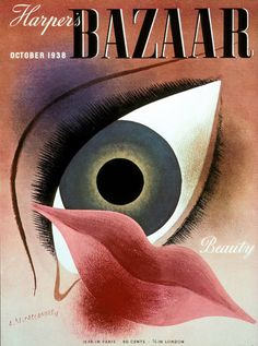 A Harper`s Bazaar cover designed by Alexey Brodovitch.