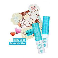 [Holika Holika] I Want Chu ♥  Lip Balm #02 Milky + Soda
