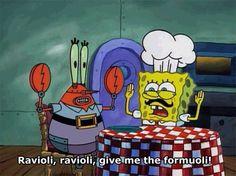 Meatballs! Meatballs! Spaghetti underneath! Ravioli! Ravioli! Great Barrier Reef! *clap*