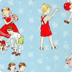 Vintage style Play Day Fabric by Alexander by DorothyPrudieFabrics, $7.95