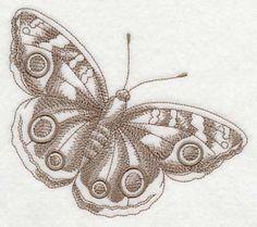 Buckeye Butterfly (Toile) design (L2313) from www.Emblibrary.com
