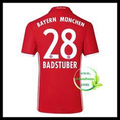Fotballdrakter FC Bayern München BADSTUBER #28 Hjemmedraktsett 2016-2017