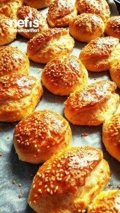 Enfes Çok Pratik Poğaça – Pratik yemekler – The Most Practical and Easy Recipes Dinner Rolls Easy, Margarita Pizza, Pan Dulce, No Cook Meals, Baked Goods, Food And Drink, Yummy Food, Bread, Snacks