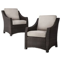 Really Need New Patio Furniture... Threshold Belvedere Wicker Patio Club  Chair   Tan